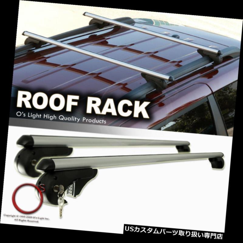 カーゴ ルーフ キャリア 04-10キャデラックSRXルーフラックアルミキャリアクロスバーセットトップカーゴバー+ロック 04-10 Cadillac SRX Roof Rack Aluminum Carrier Crossbar Set Top Cargo Bars +Lock