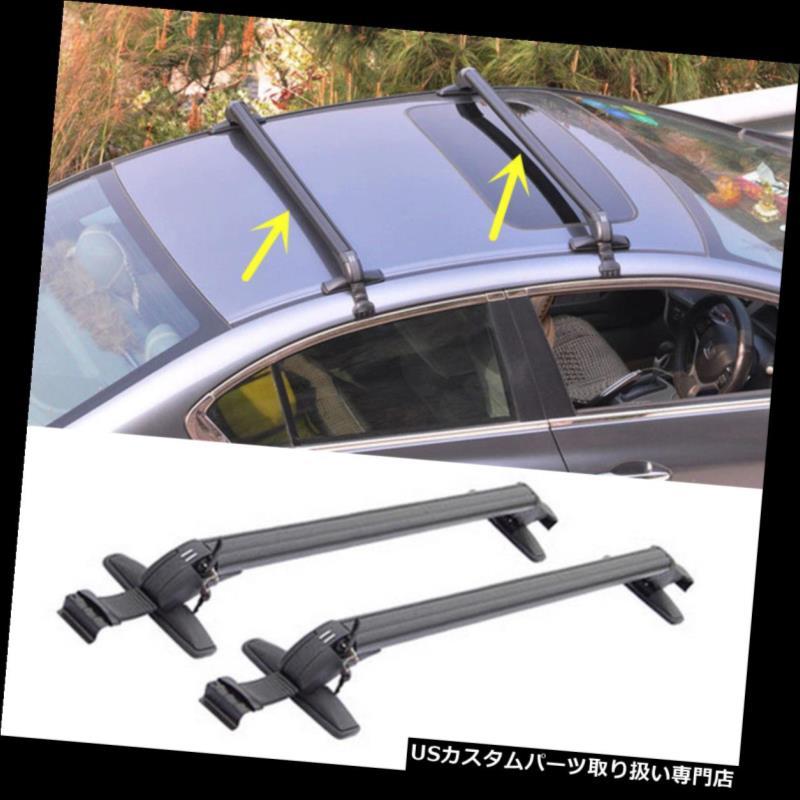カーゴ ルーフ キャリア ホンダフィットジャズ2009-2015自動貨物トップルーフラッククロスバー荷物キャリア For Honda FIT JAZZ 2009-2015 Auto Cargo Top Roof Rack Cross Bars Luggage Carrier