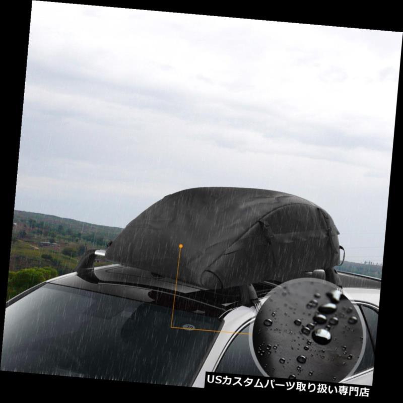カーゴ ルーフ キャリア 14FT貨物ボックス車の屋根の上のキャリア旅行荷物収納手荷物SUVジープ 14FT Cargo Box Car Roof Top Carrier Travel Luggage Storage Baggage SUV Jeep