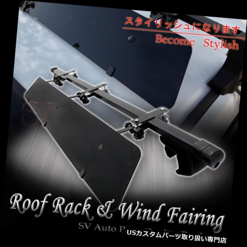 カーゴ ルーフ キャリア カーレールタワールーフトップラック48インチスクエアクロスバー+ウィンドフェアリングコンボフィットCR-V Car Rail Tower Rooftop Rack 48
