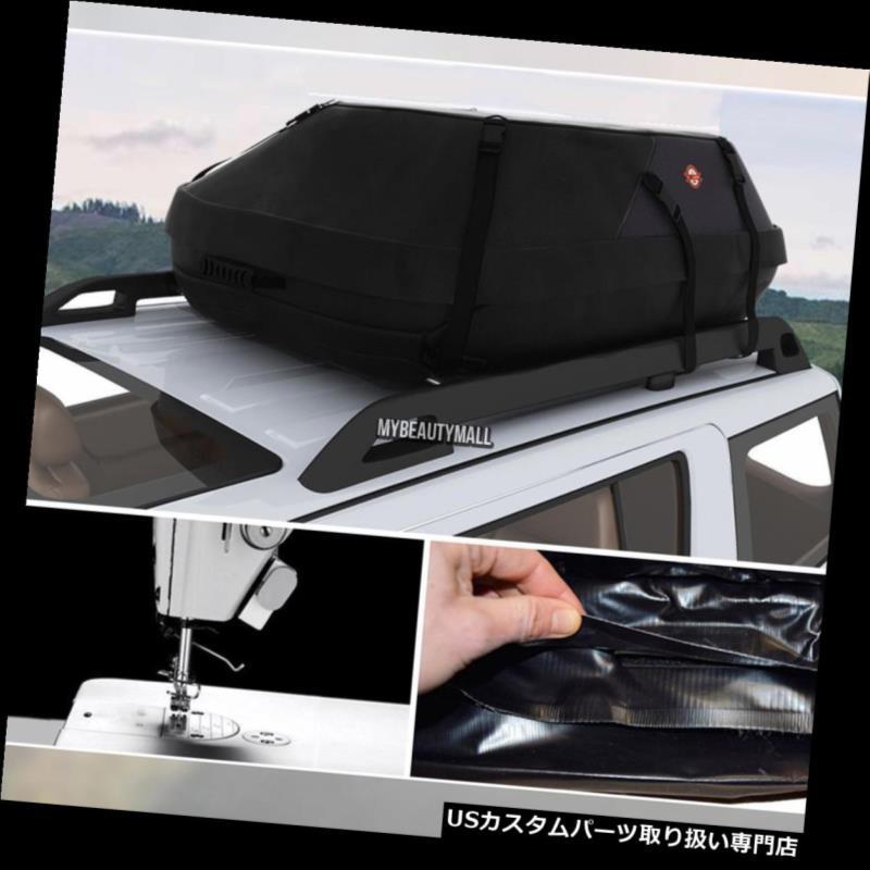 カーゴ ルーフ キャリア ルーフトップカーゴ防水キャリアバッグラック収納荷物オートカートラベルブラック Roof Top Cargo Waterproof Carrier Bag Rack Storage Luggage Auto Car Travel Black
