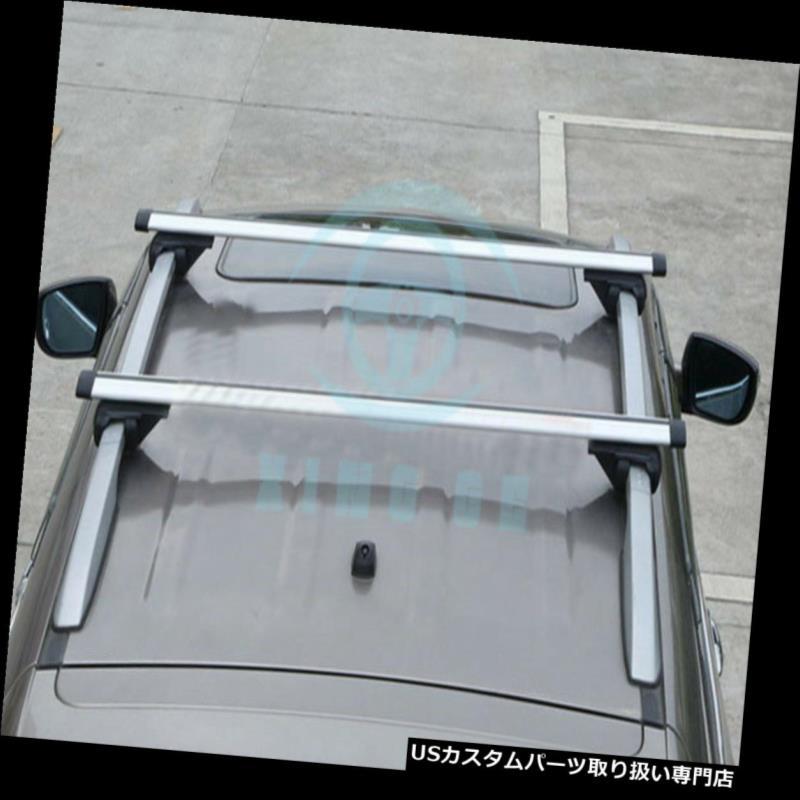 カーゴ ルーフ キャリア KIA Sportage 2007-2013用2個入りシルバーオートアロイ貨物キャリアクロスルーフラック 2pcs Silver Auto Alloy Cargo Carrier Cross Roof Racks For KIA Sportage 2007-2013