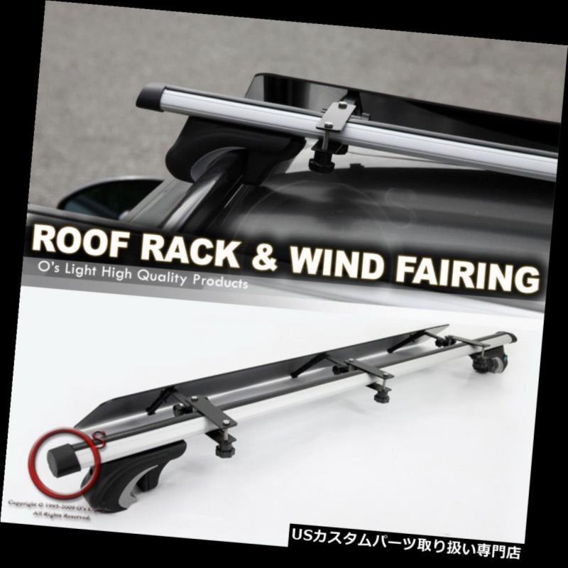 カーゴ ルーフ キャリア GX470 LX470 LX570 RX330 RX35用レールルーフトップ48インチクロスバーラック+ウィンドフェアリング Rail Roof Top 48