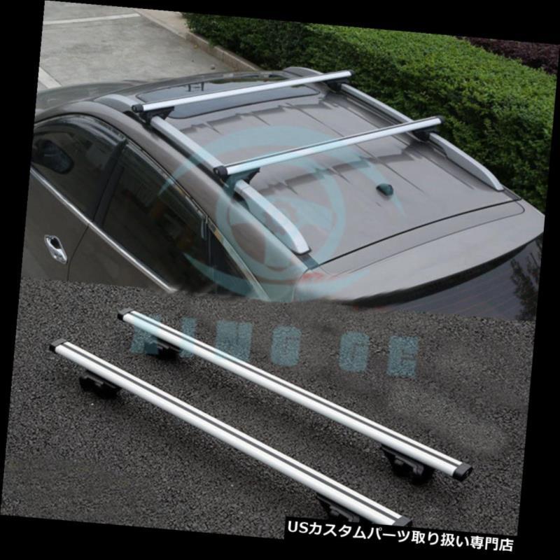 カーゴ ルーフ キャリア 三菱パジェロ2004-14年のための銀製合金の上の貨物運送人の十字棒屋根の棚 Silver Alloy Top Cargo Carrier Cross Bar Roof Rack For Mitsubishi Pajero 2004-14