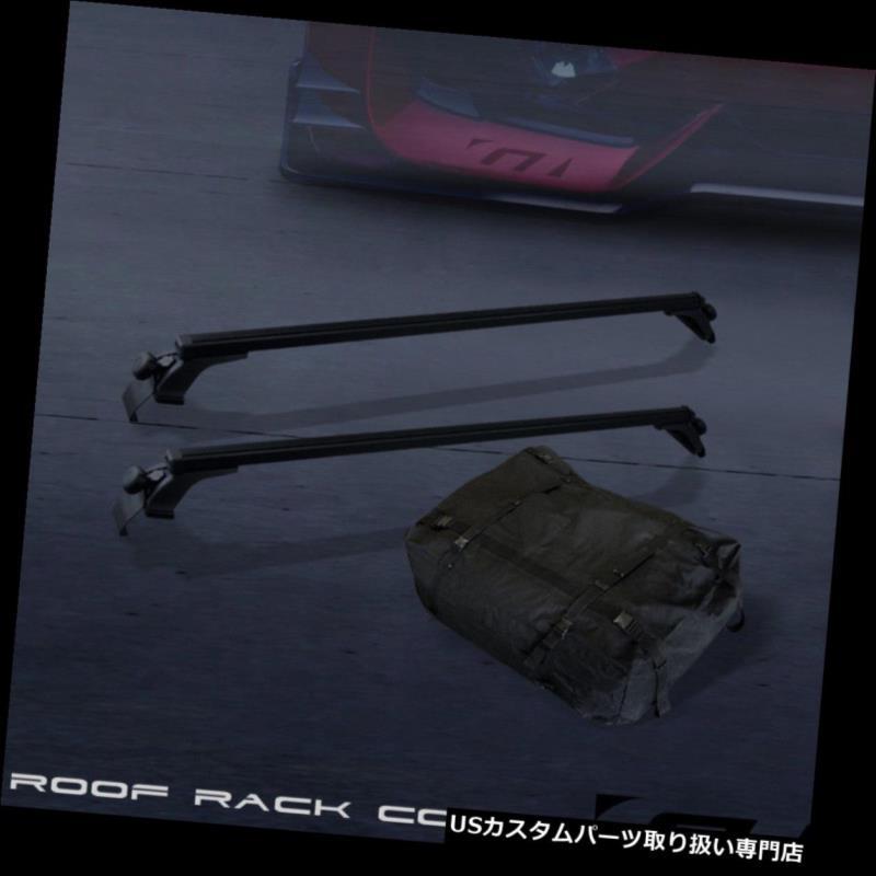 """Universal 50/"""" Black Window Frame Roof Top Rail Rack Tube Cross Bars Carrier G07"""