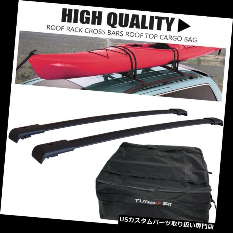 カーゴ ルーフ キャリア ルーフラッククロスバーカーゴキャリア荷物ラック+ 2003-08ホンダパイロット用トップバッグ Roof Rack Cross Bar Cargo Carrier Luggage Rack + TOP Bag For 2003-08 Honda Pilot