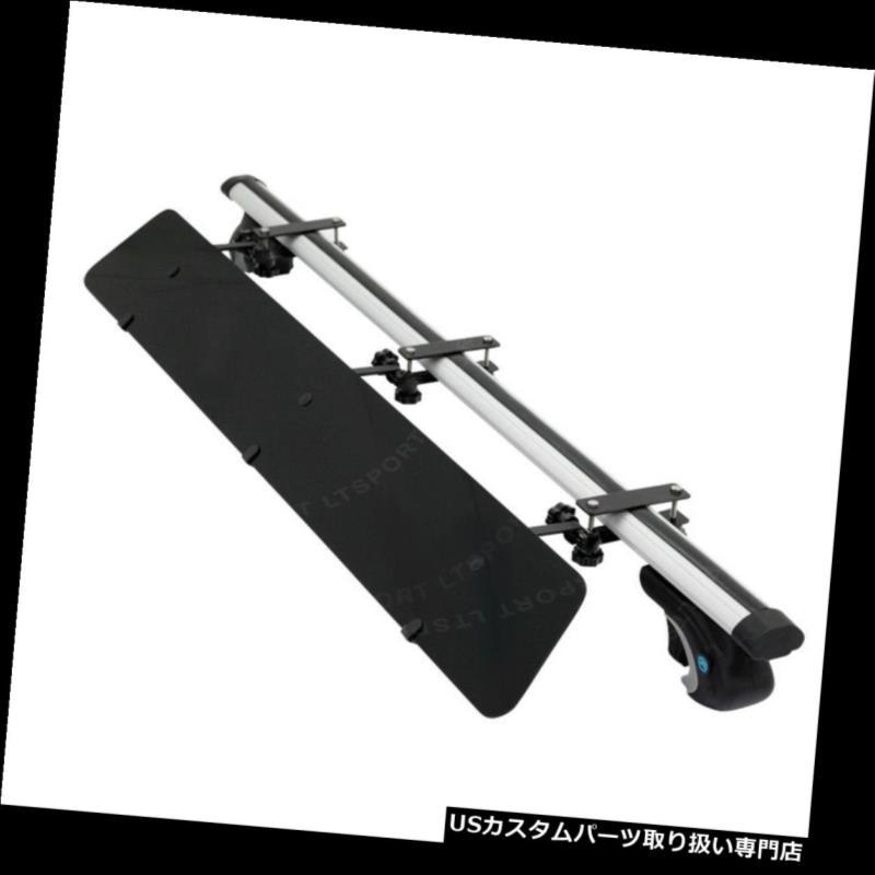 カーゴ ルーフ キャリア レールルーフラックトップアルミ製48インチクロスバー+ウィンドフェアリングフィットキャデラックSRX Rail Roof Rack Top Aluminum 48