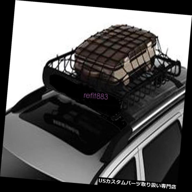カーゴ ルーフ キャリア 車の屋根の上の棚の網の障壁カバーホックが付いている荷物のキャリアの貨物バスケットの網 Car Roof Top Rack Mesh Barrier Cover Luggage Carrier Cargo Basket Net With Hooks