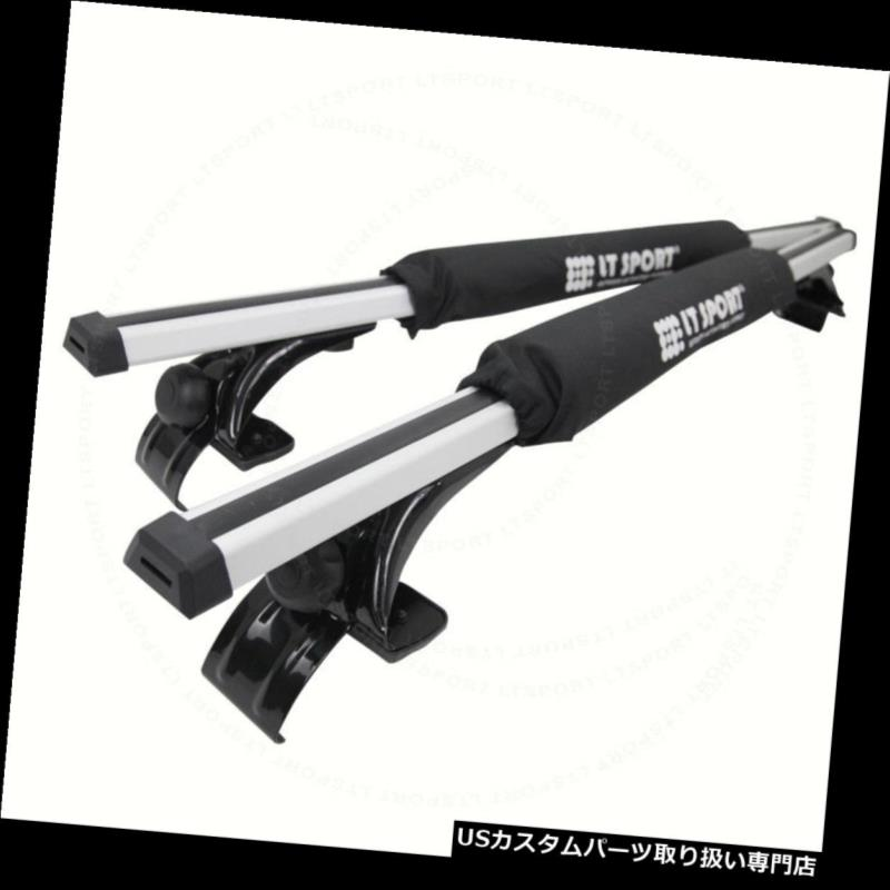 カーゴ ルーフ キャリア トヨタスバルアルミルーフラックセダントップアジャスタブルクロスバー+パッドコンボ Fit Toyota Subaru Aluminum Roof Rack Sedan Top Adjustable Cross Bars + Pad Combo