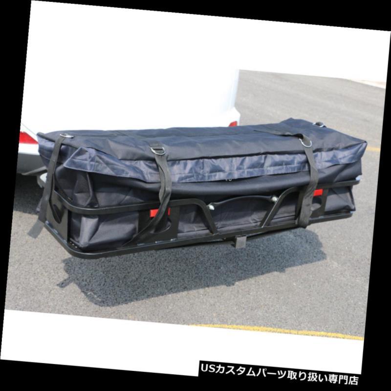 カーゴ ルーフ キャリア 耐水性 tオックスフォード織物貨物輸送用バッグブラック(57.08 x 19.69 x 15.75)