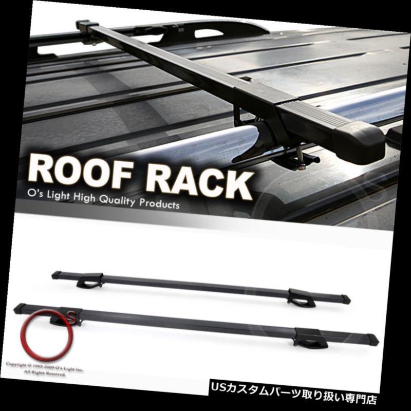 カーゴ ルーフ キャリア ユニバーサルフィットルーフレールトップラックトラベルキャリア48インチ貨物スクエアクロスバーキット Universal Fit Roof Rail Top Rack Travel Carrier 48