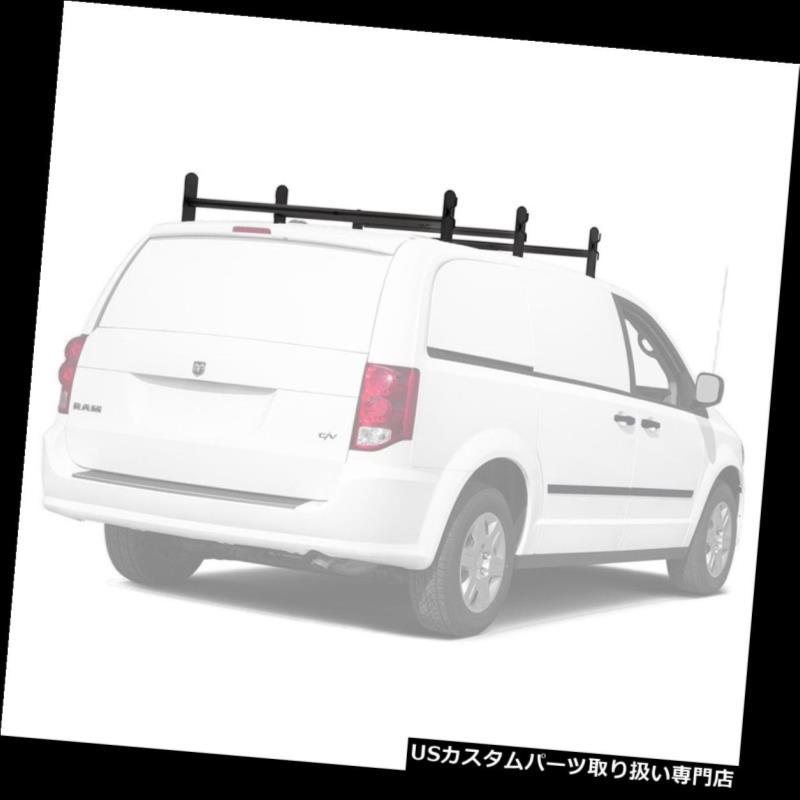 カーゴ ルーフ キャリア 普遍的なヴァン梯子のルーフラック調節可能な3つの十字棒500Lb貨物キャリアの棚 Universal Van Ladder Roof Racks Adjustable 3 Cross Bar 500Lb Cargo Carrier Rack