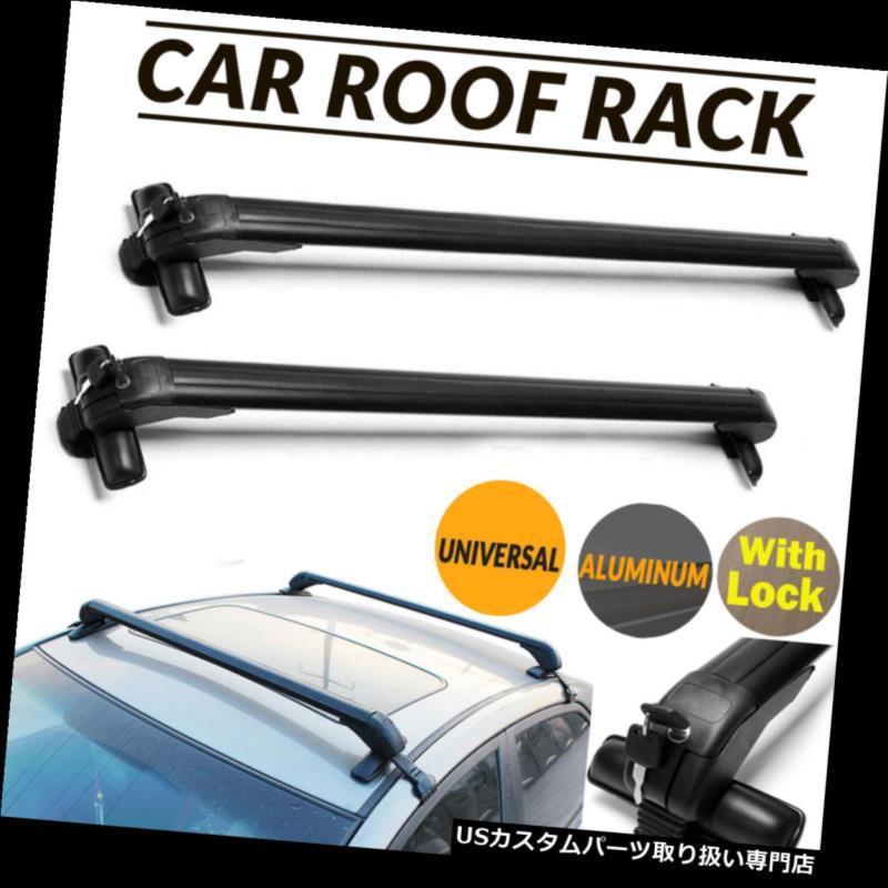 カーゴ ルーフ キャリア 普遍的な屋根の棚のクロスバーの貨物運搬船w /車のための盗難防止ロックシステム Universal Roof Rack Cross Bar Cargo Carrier w/ Anti-theft Lock System For Cars