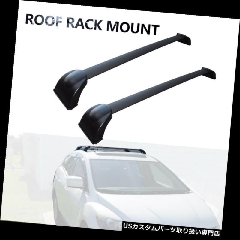 カーゴ ルーフ キャリア 2007-2012年のマツダCX-7貨物ルーフラックのための黒いルーフラッククロスバーの貨物運搬船 Black Roof Rack Cross Bar Cargo Carrier for 2007-2012 Mazda CX-7 Cargo Roof Rack