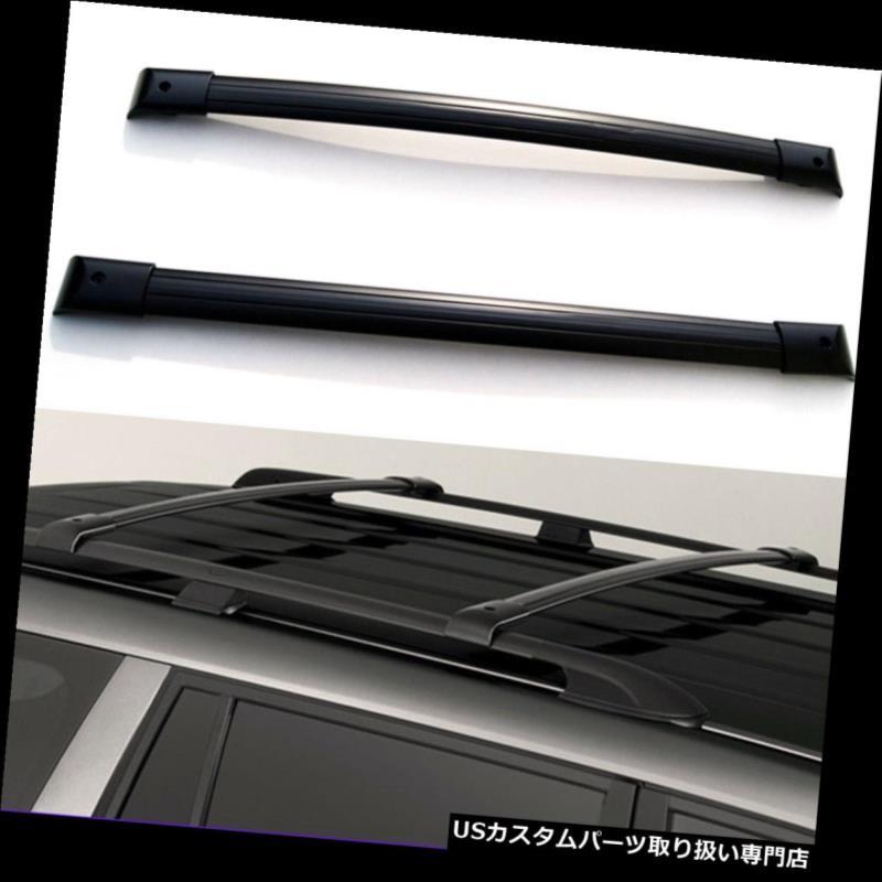 カーゴ ルーフ キャリア 1ペアブラックアルミルーフラッククロスバートップレールキャリー07-13アキュラMDX 1 Pair Black Aluminum Roof Rack Cross Bars Top Rail Carries For 07-13 Acura MDX