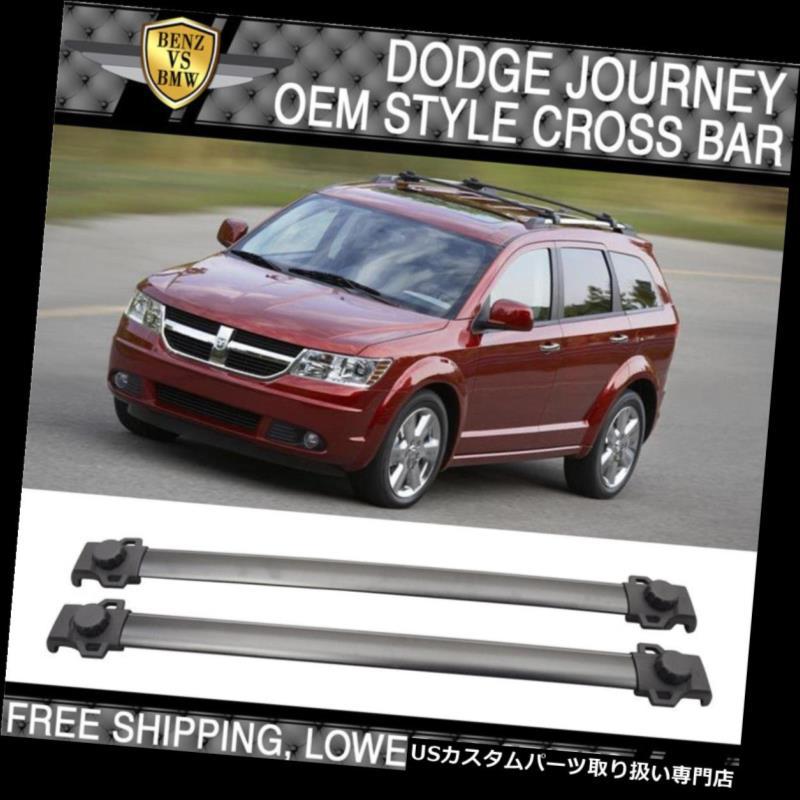 カーゴ ルーフ キャリア 09-17ダッジジャーニーOEスタイルルーフラッククロスバークロスバーブラックアルミ用フィット Fit For 09-17 Dodge Journey OE Style Roof Rack Cross Bar Crossbar Black Aluminum