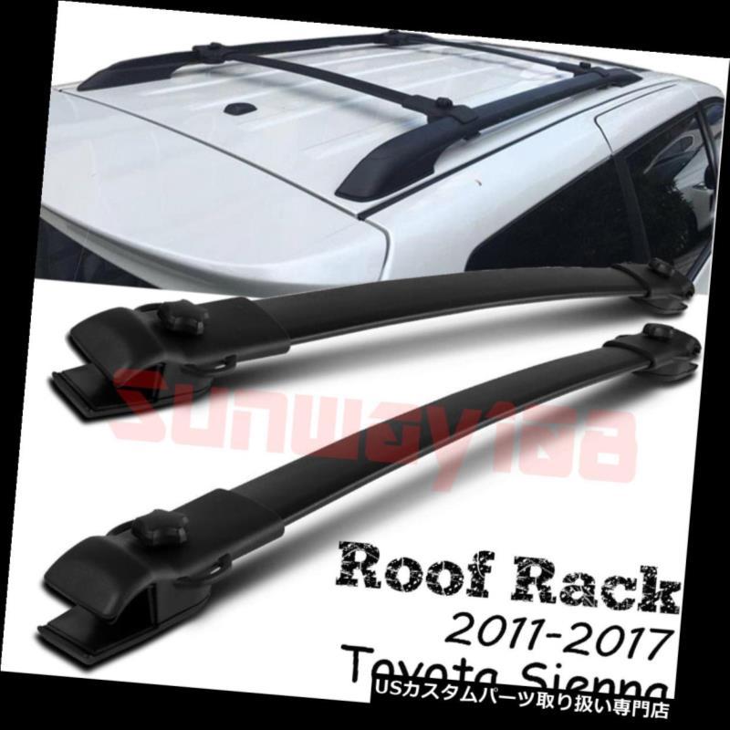 カーゴ ルーフ キャリア 2011-2017トヨタシエナルーフラックレールクロスバー荷物キャリアOEスタイル For 2011-2017 Toyota Sienna Roof Rack Rails Cross Bars Luggage Carrier OE Style