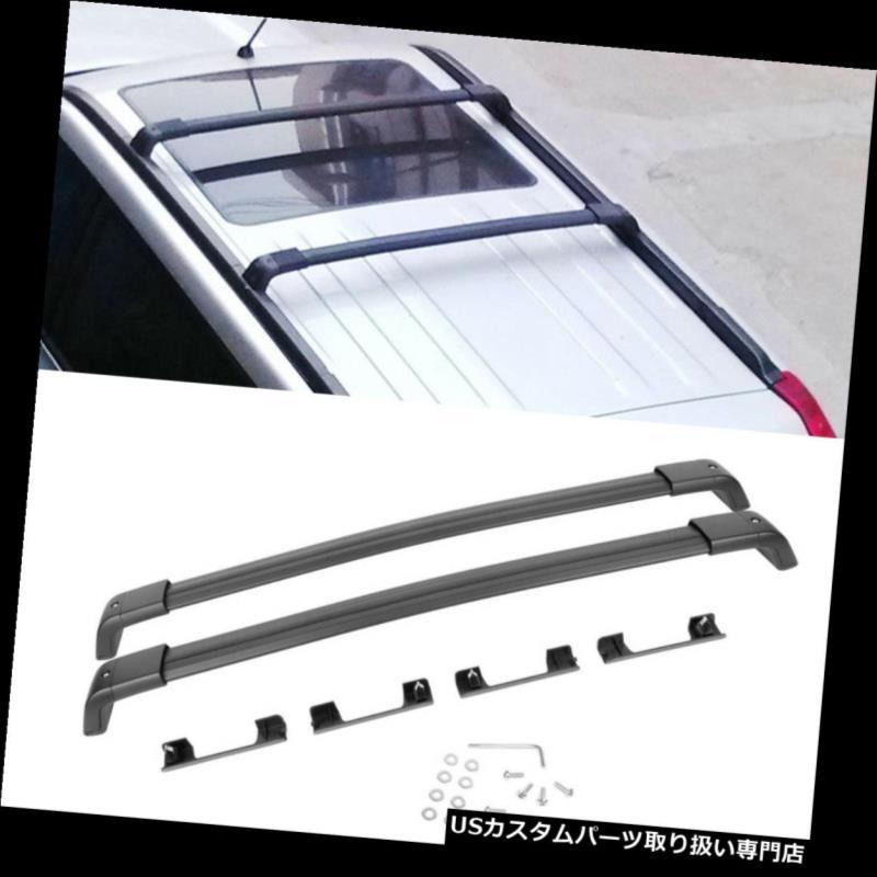 カーゴ ルーフ キャリア 2008-2016日産エクストレイル用1ペアブラックアルミトップルーフラッククロスバー 1 Pair Black Aluminum Top Roof Rack Cross Bar For 2008-2016 Nissan X-Trail