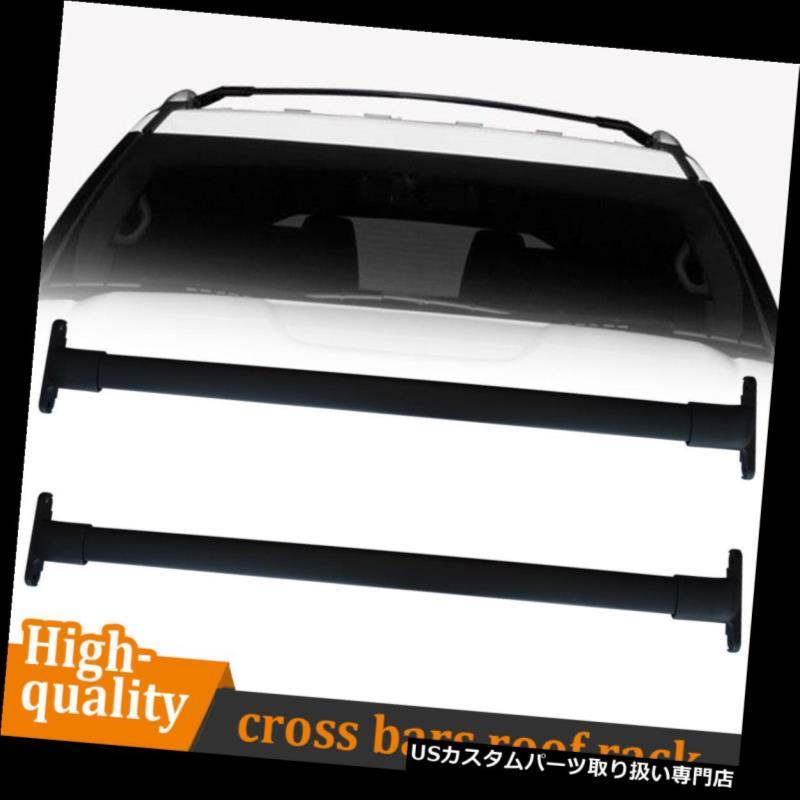カーゴ ルーフ キャリア 新しい1ペアブラックルーフラッククロスバートップレールキャリー2003-2008ホンダパイロット New 1 Pair Black Roof Rack Cross Bars Top Rail Carries For 2003-2008 Honda Pilot