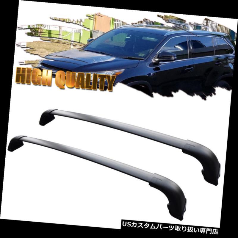 カーゴ ルーフ キャリア フィット2015-2017トヨタハイランダーXLE限定ルーフラックペアクロスバーアルミ Fit 2015-2017 Toyota Highlander XLE Limited Roof Rack Pair Cross Bar Aluminum