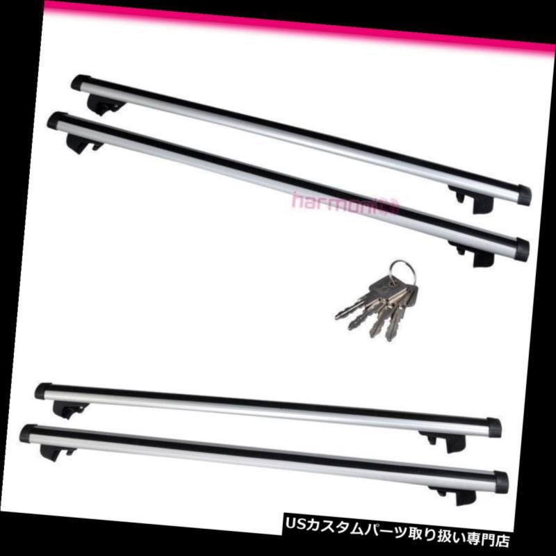 カーゴ ルーフ キャリア 48インチトップルーフラッククロスバーW調整式クランプロックユニバーサルにフィット Fits 48 Inches Top Roof Rack Cross Bar W Adjustable Clamps Lock Universal