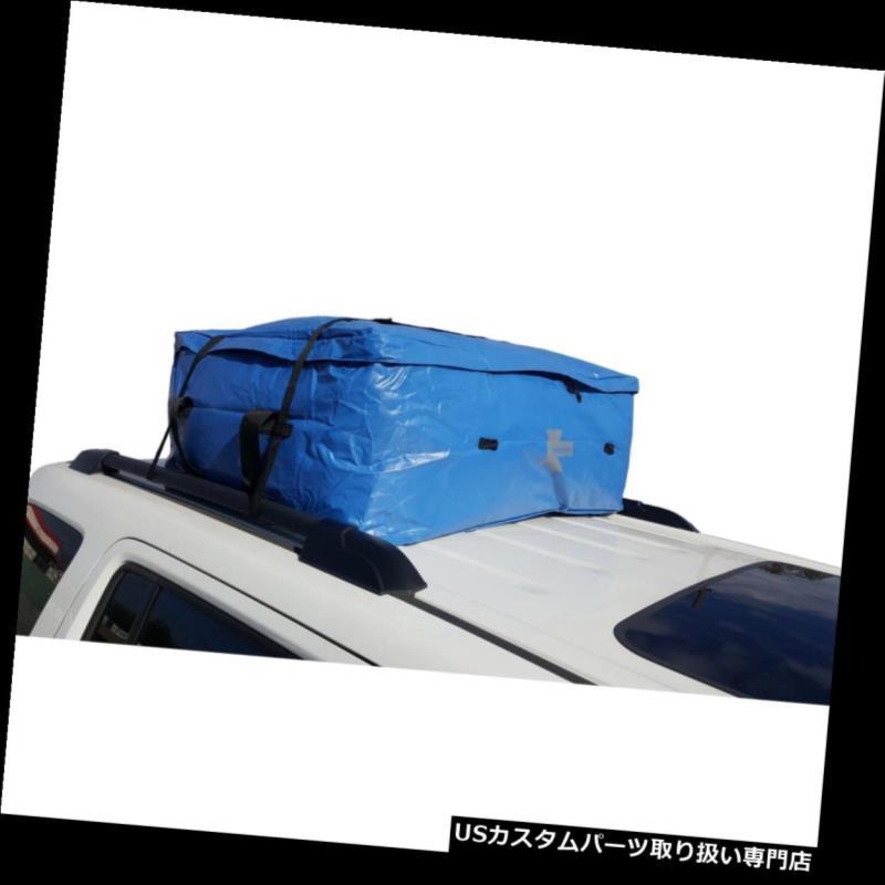 カーゴ ルーフ キャリア カーゴバッグ防水ターポリンSUVルーフラックバッグキャリアミディアムブルー Cargo Bag Waterproof Tarpaulin SUV Roof Rack Bag Carrier Medium Blue