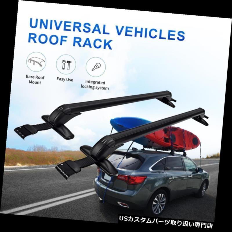 カーゴ ルーフ キャリア 調節可能な普遍的なアルミニウム車の上の屋根の十字バーの荷物の貨物キャリアの棚 Universal Aluminum Car Top Roof Cross Bar Luggage Cargo Carrier Rack Adjustable