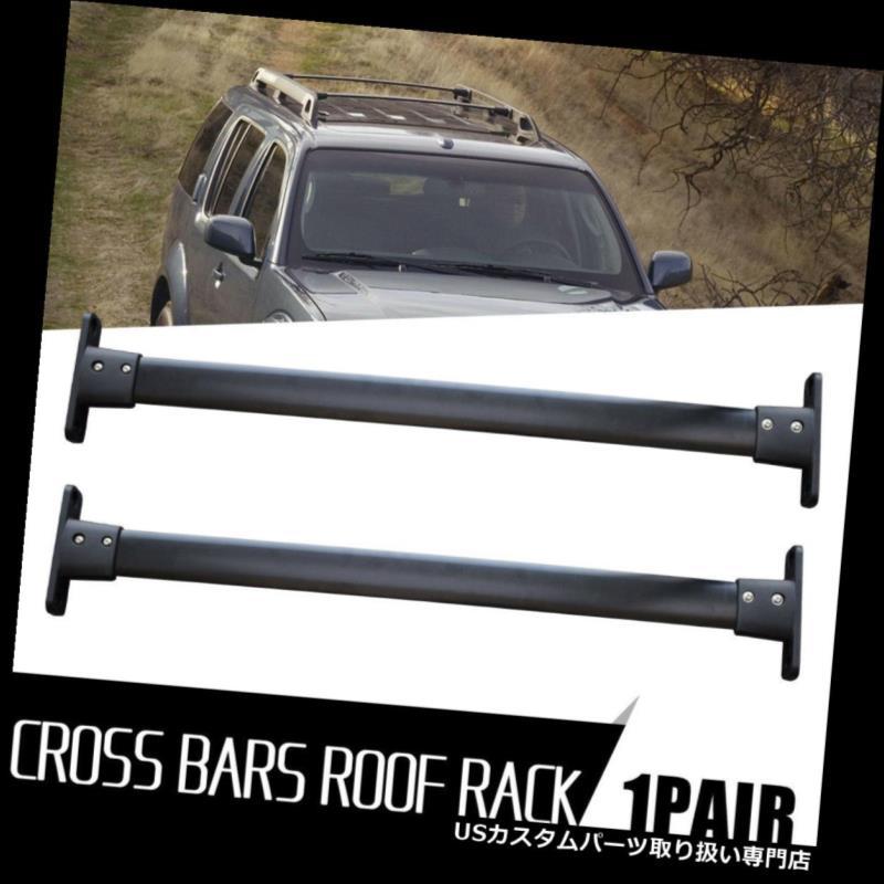 カーゴ ルーフ キャリア 2005-2012日産パスファインダー用トップルーフラッククロスバー貨物荷物キャリア Top Roof Rack Cross Bar Cargo Luggage Carrier For 2005-2012 Nissan Pathfinder