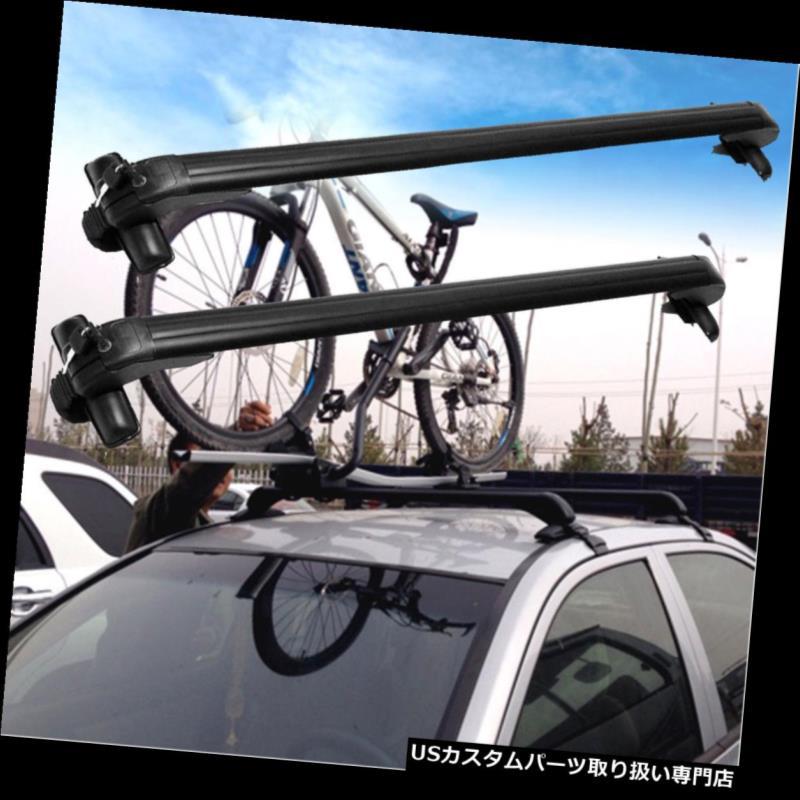 カーゴ ルーフ キャリア カートップルーフクロスバー荷物貨物キャリアラックウィンドウフレームw /盗難防止ロック Car Top Roof Cross Bar Luggage Cargo Carrier Rack Window Frame w/Anti-theft Lock