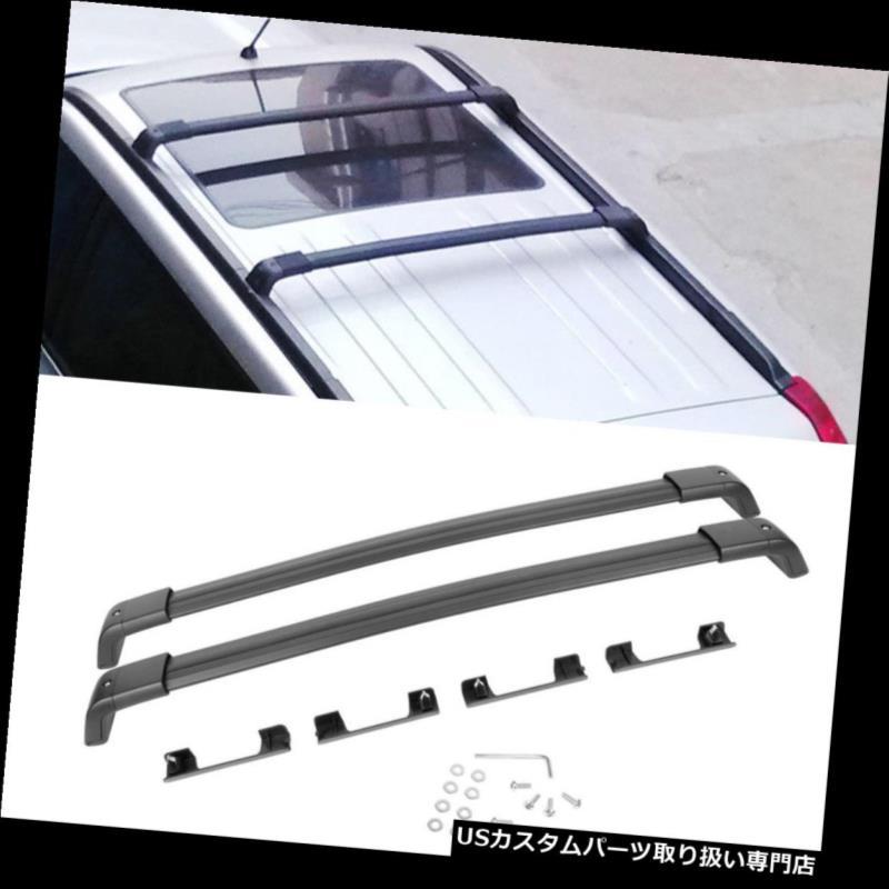 カーゴ ルーフ キャリア 2008-2016日産エクストレイル1ペアブラックアルミトップルーフラッククロスバー用 For 2008-2016 Nissan X-Trail 1 Pair Black Aluminum Top Roof Rack Cross Bar