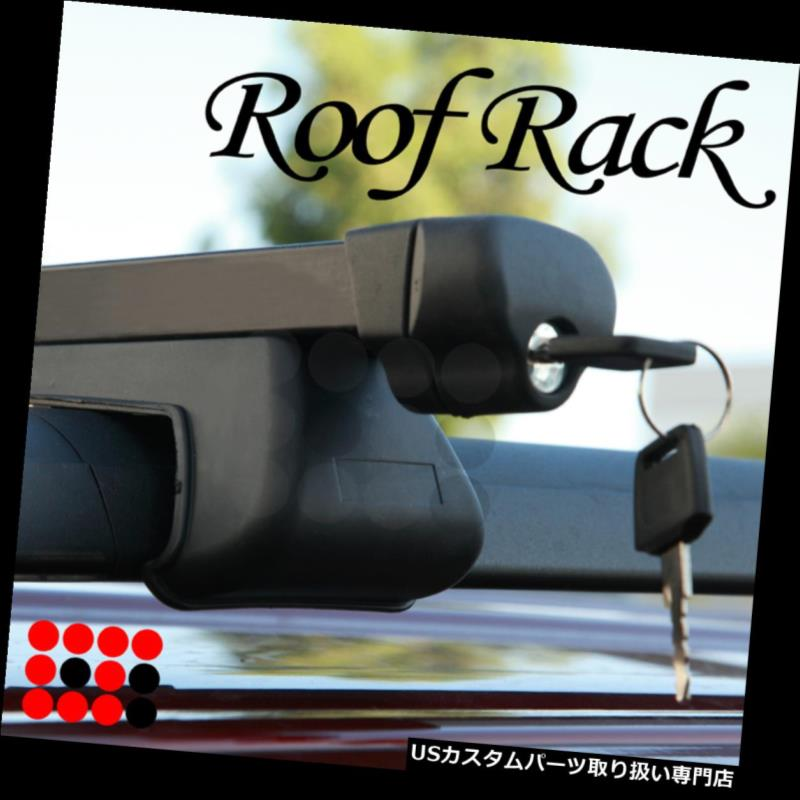 カーゴ ルーフ キャリア フィットアキュラユーティリティ屋上ルーフラックトップクロスバー荷物キャリア+キーロック Fit Acura Utility Rooftop Roof Rack Top Cross Bars Luggage Carrier + Key Lock
