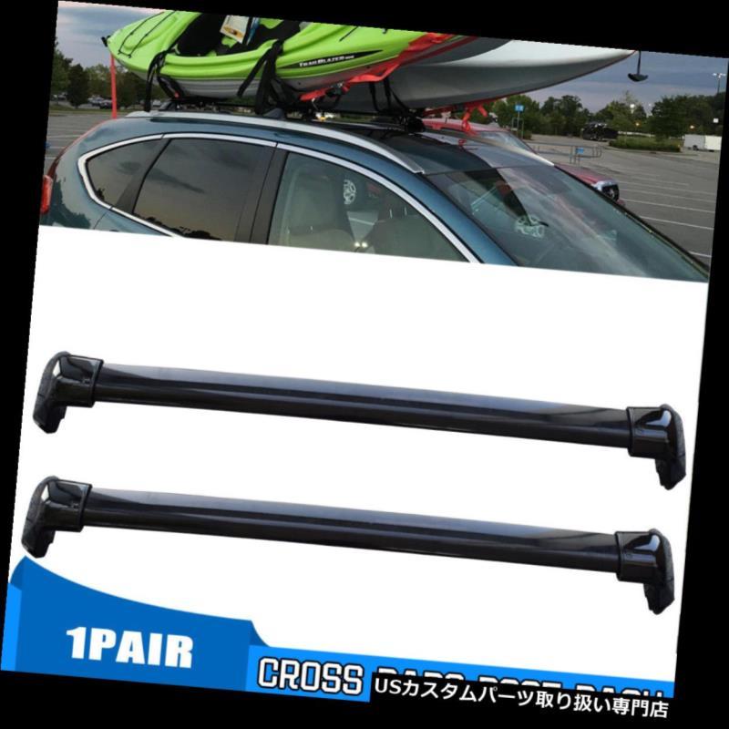 カーゴ ルーフ キャリア 2012-2016年ホンダCRV CR-Vルーフラックサイドレール+クロスバーセットOEスタイルに適合 Fits for 2012-2016 Honda CRV CR-V Roof Rack Side Rails+Cross Bars Set OE Style