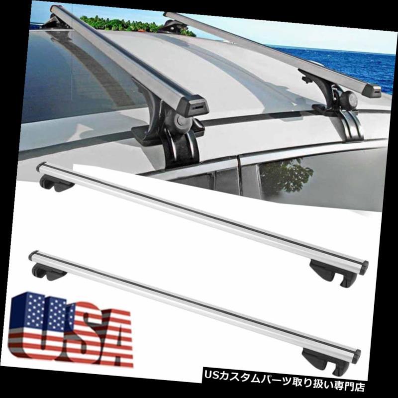 カーゴ ルーフ キャリア w /ロックカートップルーフラックアルミクロスバーカーゴ荷物キャリアユニバーサルUS w/ Lock Car Top Roof Rack Aluminum Cross Bars Cargo Luggage Carrier Universal US