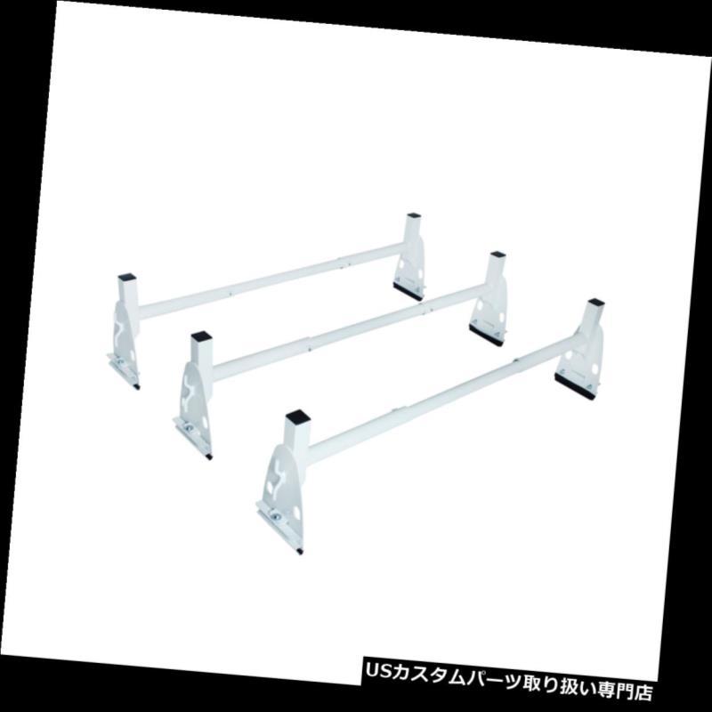 カーゴ ルーフ キャリア 白いバンの梯子のルーフラック調節可能な3つの棒荷物の貨物キャリアの台紙の棚 White Van Ladder Roof Racks Adjustable 3 Bar Luggage Cargo Carrier Mount Racks