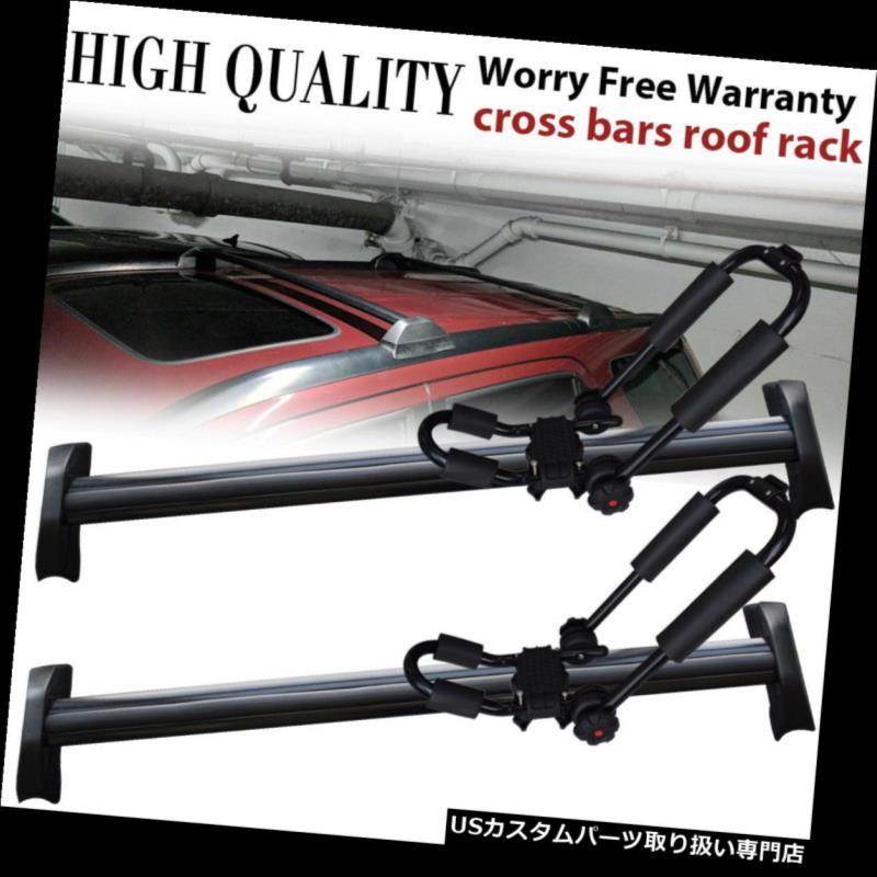 カーゴ ルーフ キャリア 2002-06ホンダCRV CR-V用ルーフラックレールクロスバー貨物キャリア+カヤックラック Roof Rack Rail Cross Bar Cargo Carrier + Kayak Racks For 2002-06 Honda CRV CR-V