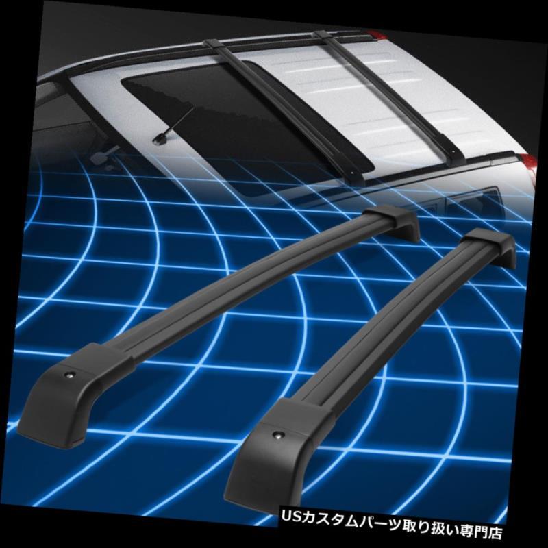 08-16日産エクストレイルペアアルミルーフレールクロスバーカーゴキャリアブラック Black Carrier Bar For Nissan Pair Cross 08-16 カーゴ Rail キャリア X-Trail Aluminum Roof ルーフ Cargo