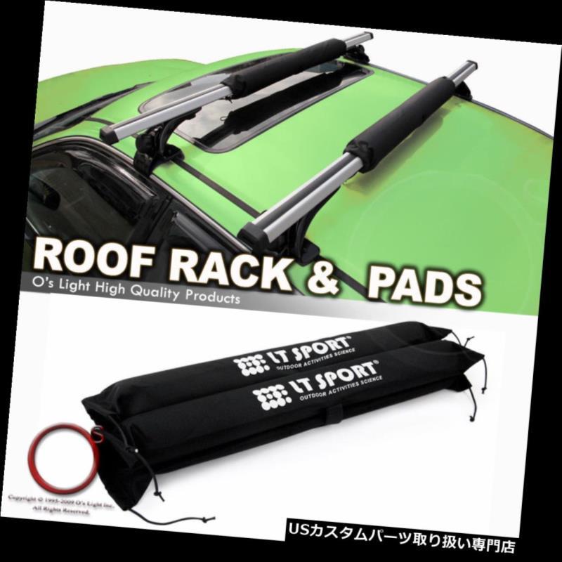 カーゴ ルーフ キャリア ルーフトップクロスバーラッククロスバーフィットセダン/ハッチバック k /ワゴン+プロテクションパッド Roof Top Crossbar Rack Cross Bars Fit Sedan/Hatchback/Wagon + Protection Pad