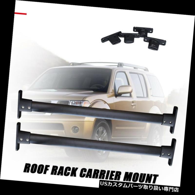 カーゴ ルーフ キャリア 2005-2012日産パスファインダー荷物キャリアバー用トップルーフラッククロスバー Top Roof Rack Cross Bar for 2005-2012 Nissan Pathfinder Luggage Carrier Bar