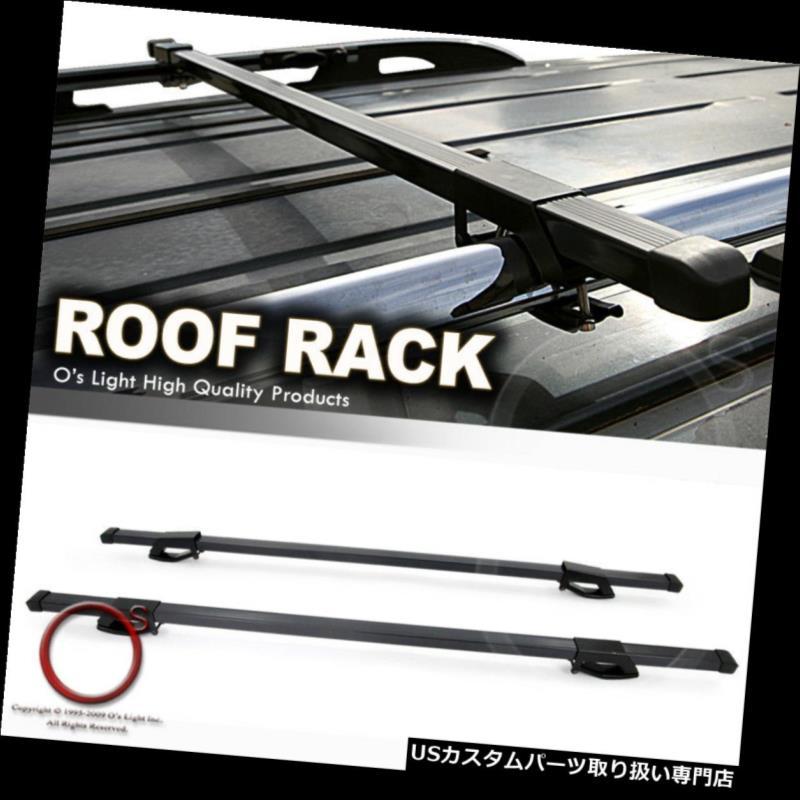 カーゴ ルーフ キャリア SAAB 9-5 9-7xブラックルーフラックキャリアトップ48インチカーゴスクエアクロスバーキット SAAB 9-5 9-7x Black Roof Rack Carrier Top 48