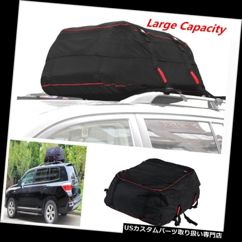 カーゴ ルーフ キャリア ブラックレッドカールーフラックカーゴキャリアカーSUVバントップ荷物バッグ収納旅行 Black Red Car Roof Rack Cargo Carrier Car SUV Van Top Luggage Bag Storage Travel