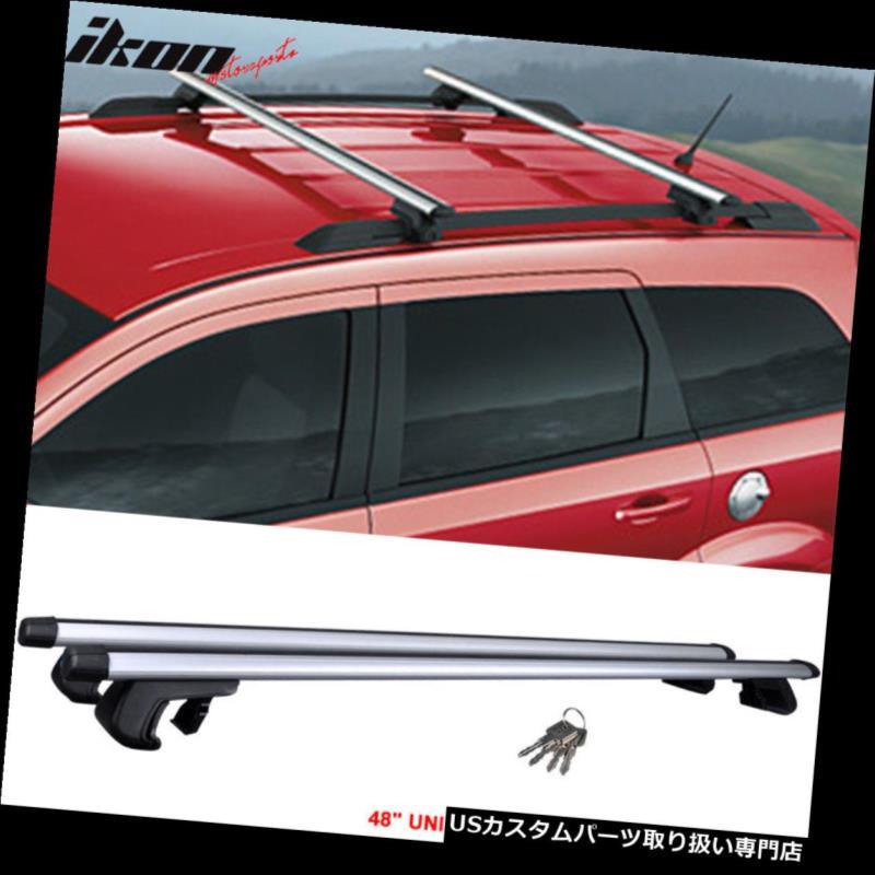 カーゴ ルーフ キャリア 48インチトップレールルーフラッククロスバーキャリアアルミ製120CMロックキー Fits 48 Inch Top Rail Roof Rack Cross Bar Carrier Aluminum 120CM Lock Key
