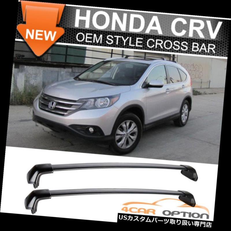 カーゴ ルーフ キャリア 12-16ホンダCRV CR-V OEスタイルルーフラッククロスバーブラックポリッシュにフィット Fits 12-16 Honda CRV CR-V OE Style Roof Rack Cross Bar Black Polish