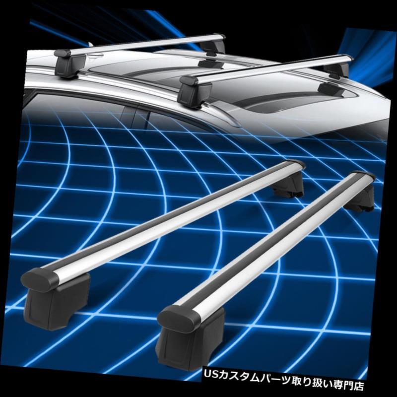 カーゴ ルーフ キャリア 09-16アウディQ5ペアアルミルーフレールラッククロスバーカーゴキャリアシルバー For 09-16 Audi Q5 Pair Aluminum Roof Rail Rack Cross Bar Cargo Carrier Silver