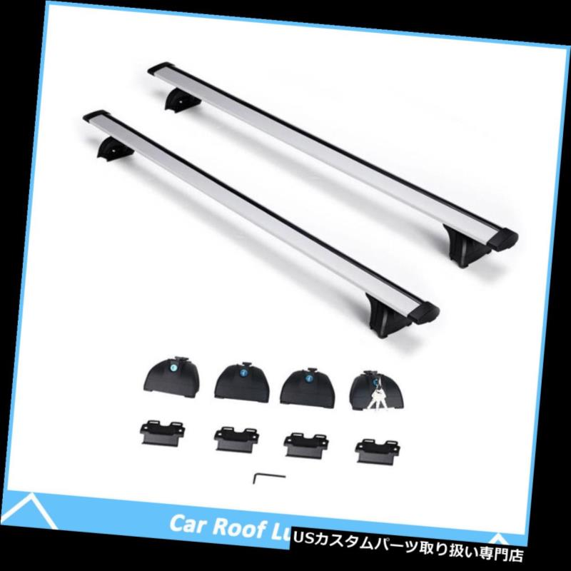 カーゴ ルーフ キャリア アウディQ3 Q5 Q7 BMW X1 X5用アルミトップルーフラッククロスバーレール貨物キャリア Aluminum Top Roof Rack Cross Bar Rail Cargo Carrier For Audi Q3 Q5 Q7 BMW X1 X5