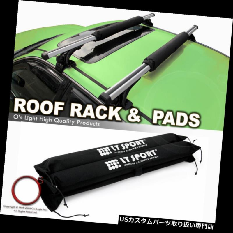 カーゴ ルーフ キャリア セダン/ハッチバック k /ワーゲンルーフトップレール少ないラッククロスバークロスバー+プロテクトパッド Sedan/Hatchback/Wagen Roof Top Rail Less Rack Crossbar Cross Bars + Protect Pad