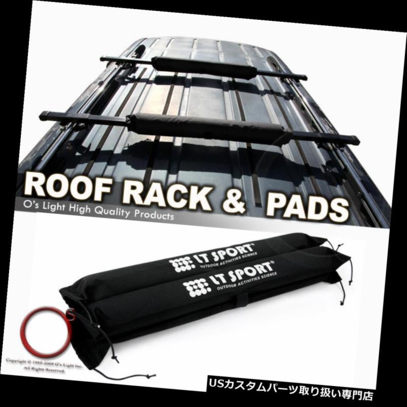 カーゴ ルーフ キャリア Acura MDX 01-11 / RDX 07-11ルーフトップラック48インチ貨物スクエアクロスバー+パッドコンボ Aucra MDX 01-11/RDX 07-11 Roof Top Rack 48