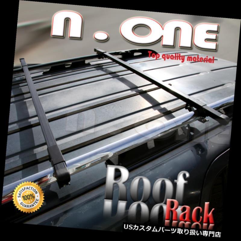 カーゴ ルーフ キャリア アルミブラックルーフトップレールラックスクエアバーカートラベルキットfor Rondo ALUMINUM BLACK ROOF TOP RAIL RACK CROSS SQUARE BARS CAR TRAVEL KIT FOR Rondo