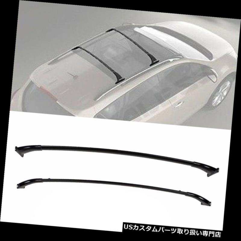 カーゴ ルーフ キャリア 1ペアブラックアルルーフラッククロスバートップレールキャリー09-14日産ムラーノ 1 Pair Black Al Roof Rack Cross Bars Top Rail Carries For 09-14 Nissan Murano