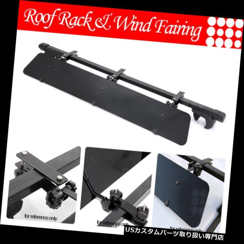 カーゴ ルーフ キャリア ジープルーフトップラック48インチスクエアクロスバーラゲッジキャリア+ウィンドフェアリング Fit Jeep Rooftop Rack 48