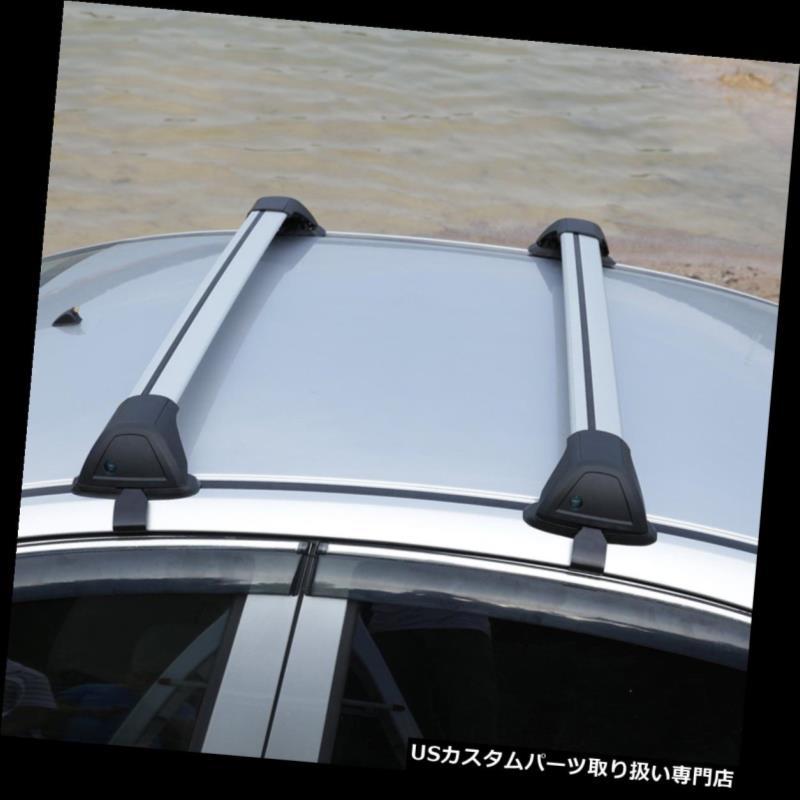 カーゴ ルーフ キャリア 2x車100cmトップ荷物貨物クロスバールーフラックキャリア+ロックキット盗難防止 2x Car 100cm Top Luggage Cargo Cross Bar Roof Rack Carrier + Lock Kit Anti-theft